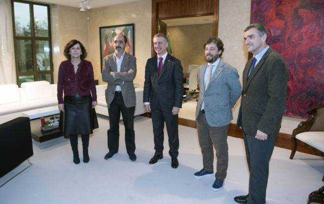 El Lehendakari recibe a Daniel Innerarity y Miguel Maduro